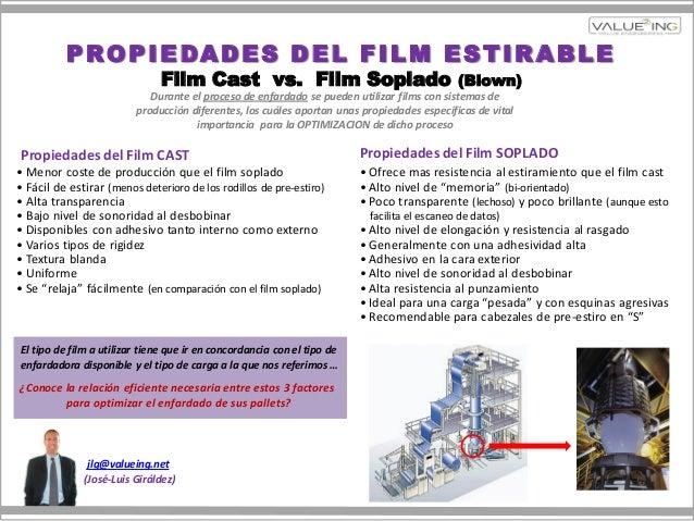 jlg@valueing.net(José-Luis Giráldez)PROPIEDADES DEL FILM ESTIRABLEFilm Cast vs. Film Soplado (Blown)• Ofrece mas resistenc...