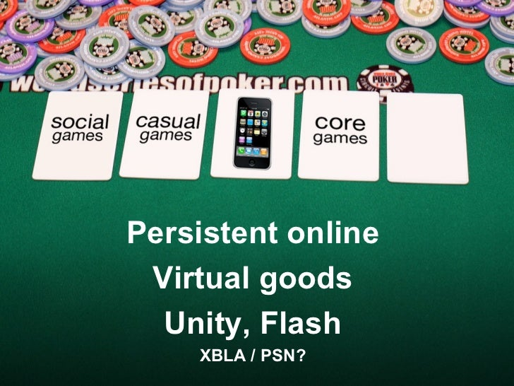 Persistent online Virtual goods Unity, Flash XBLA / PSN?