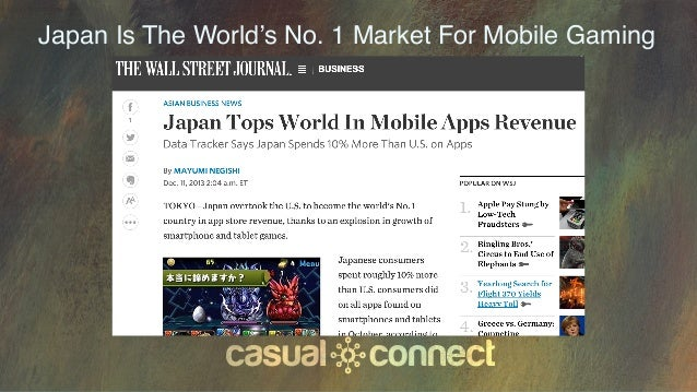 Japan Is The World's No. 1 Market For Mobile Gaming