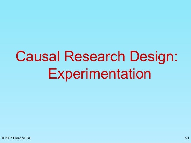 What is Causal Research?