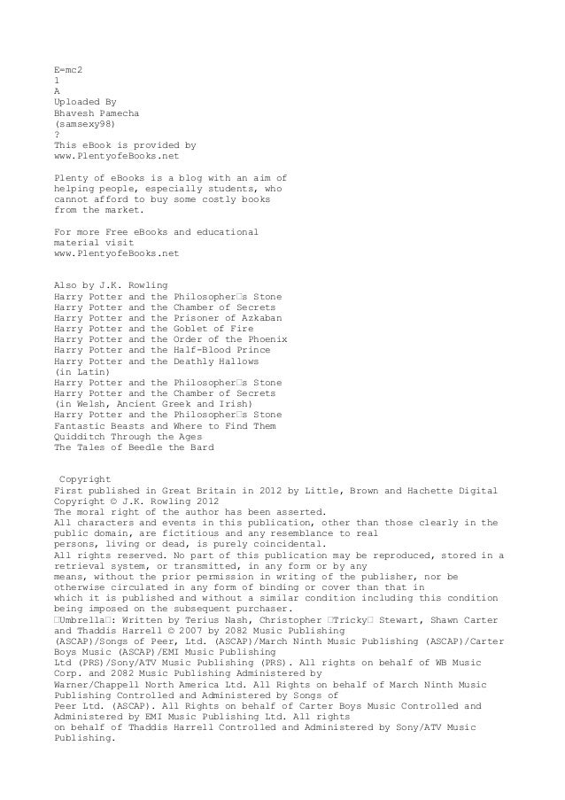 E=mc21AUploaded ByBhavesh Pamecha(samsexy98)?This eBook is provided bywww.PlentyofeBooks.netPlenty of eBooks is a blog wit...