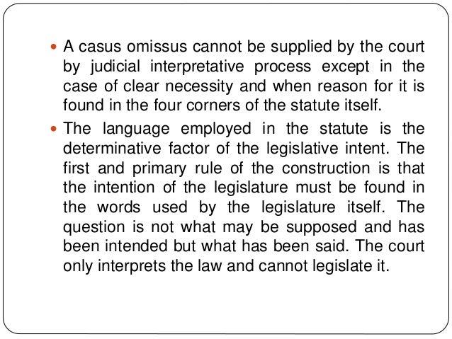 casus omissus example