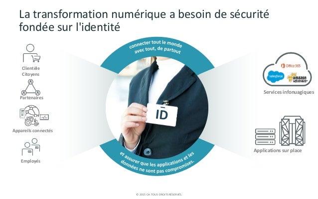 © 2015 CA. TOUS DROITS RÉSERVÉS. La transformation numérique a besoin de sécurité fondée sur l'identité Applications sur p...