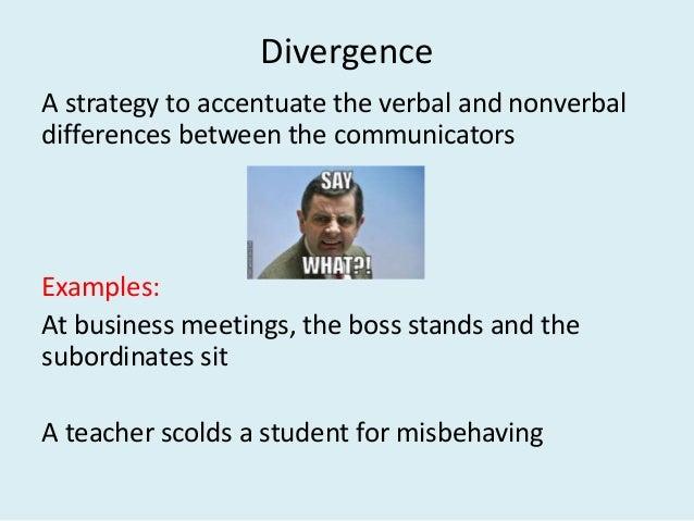 communication accommodation theory example