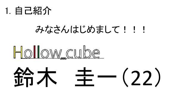 1. 自己紹介 鈴木 圭一(22) みなさんはじめまして!!!