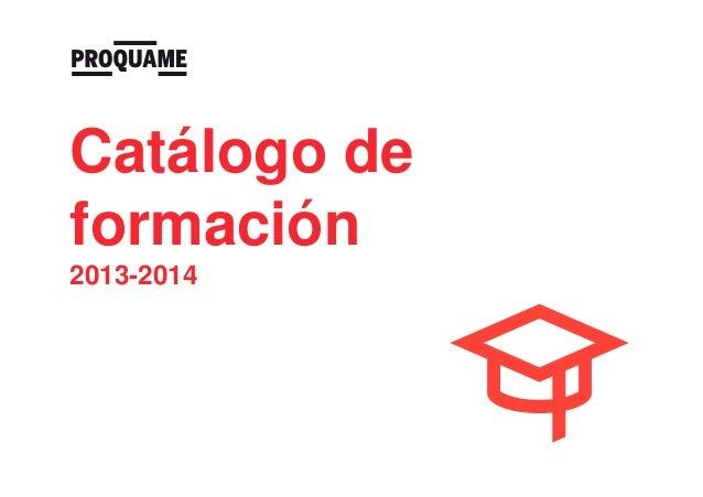 Catálogo de formación 2013-2014