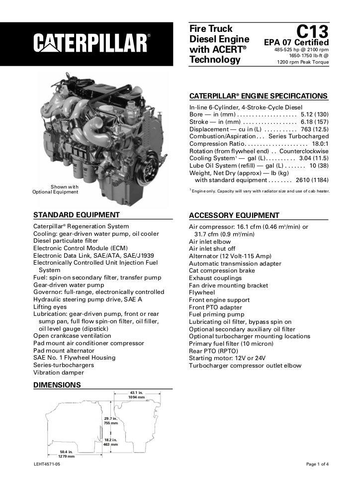 cat diesel engine c 13 rh slideshare net Cat C13 Engine Diagram Cat C13 Fuel Pressure Regulator