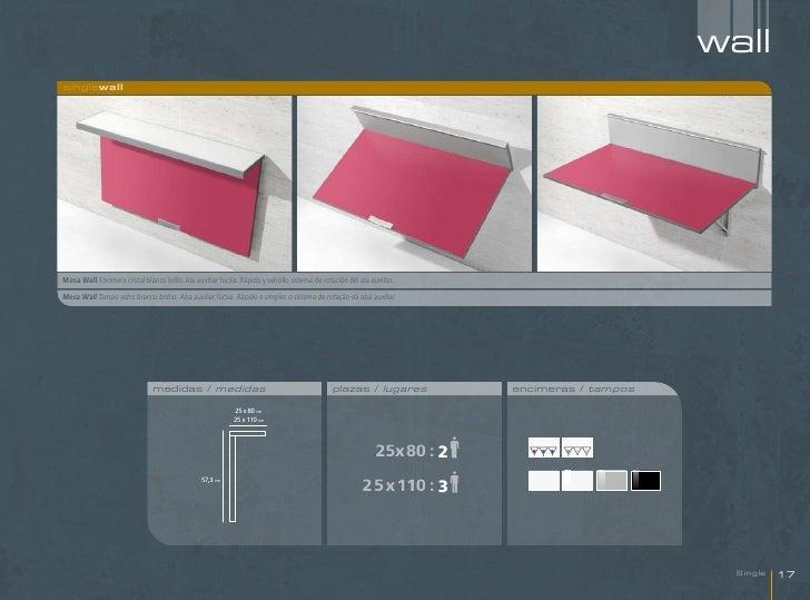 wallsinglewallMesa Wall Encimera cristal blanco brillo. Ala auxiliar fucsia. Rápido y sencillo sistema de rotación del ala...