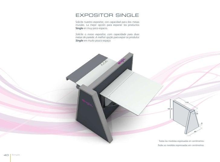 EXPOSITOR SINGLE              Solicite nuestro expositor, con capacidad para dos mesas              murales. La mejor opci...