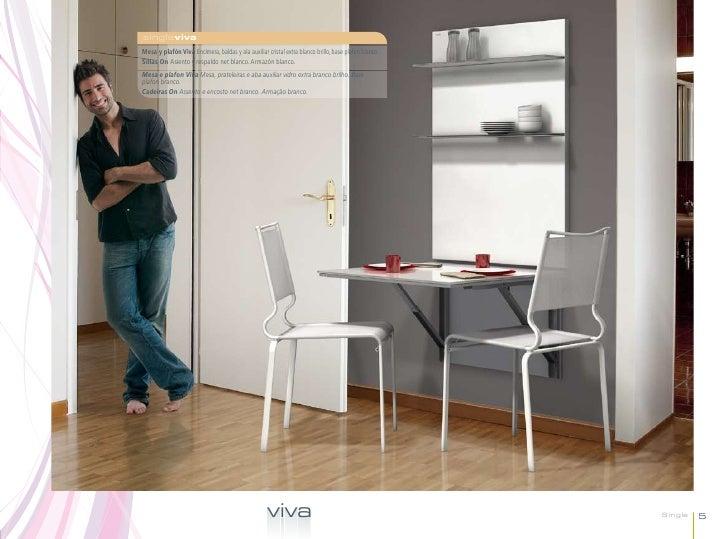 singlevivaMesa y plafón Viva Encimera, baldas y ala auxiliar cristal extra blanco brillo, base plafón blanco.Sillas On Asi...