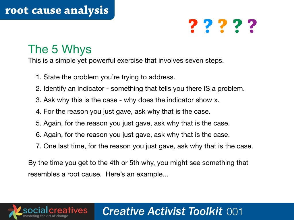 Root Cause Analysis You Walk