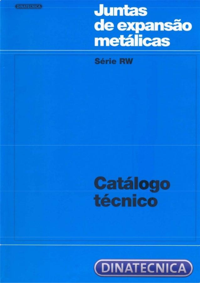 Juntas  de expansão metálicas série nw  Catálogo técnico