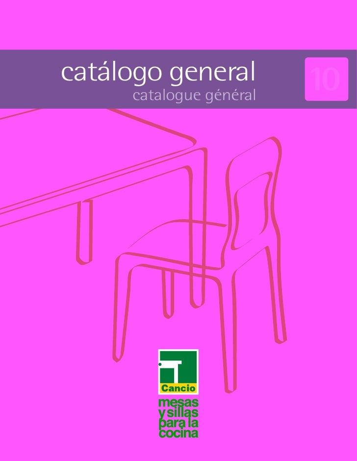 catálogo general         10     catalogue général