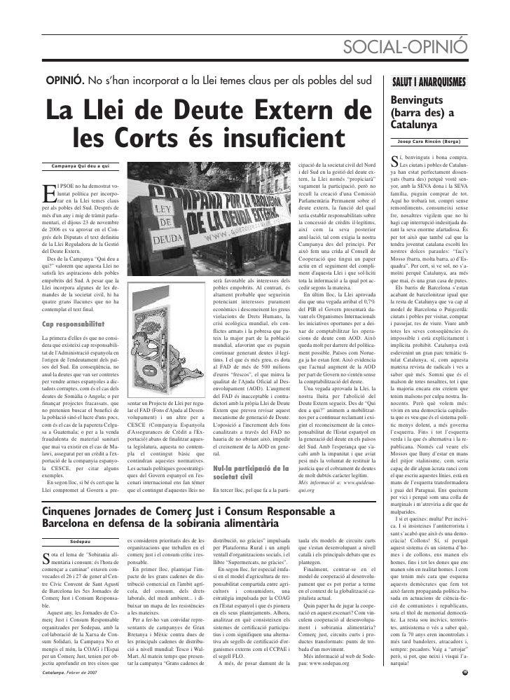 Revista Catalunya 83 Febrer 2007