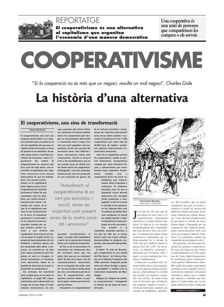 REPORTATGE                                                                                                       Una coope...