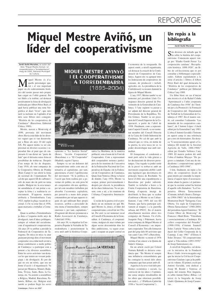 REPORTATGE         Miquel Mestre Aviñó, un                                                                                ...