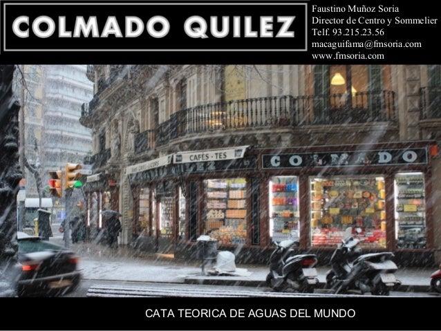 Faustino Muñoz Soria                        Director de Centro y Sommelier                        Telf. 93.215.23.56      ...