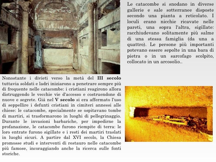 Le catacombe cristiane for Nicchie nelle pareti