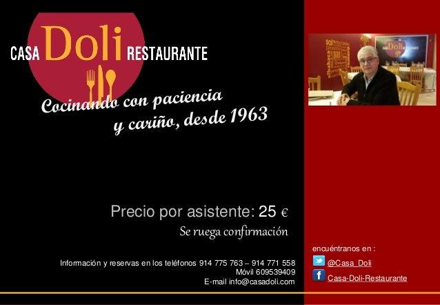 Cata de vinos 24 4 en casa doli - Casa doli restaurante ...