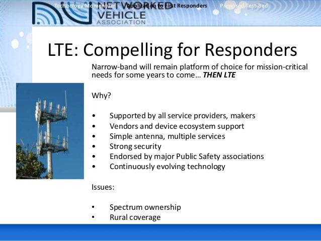Alcatel-Lucent • Several applications of mobile broadband including Genetec (Live Video), facial recognition, mass casualt...