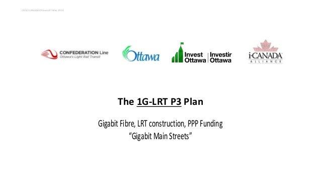 "The 1G-LRT P3 Plan GigabitFibre,LRT construction, PPPFunding ""Gigabit Main Streets"" CATA I CANADA Ottawa LRT May 29 14"