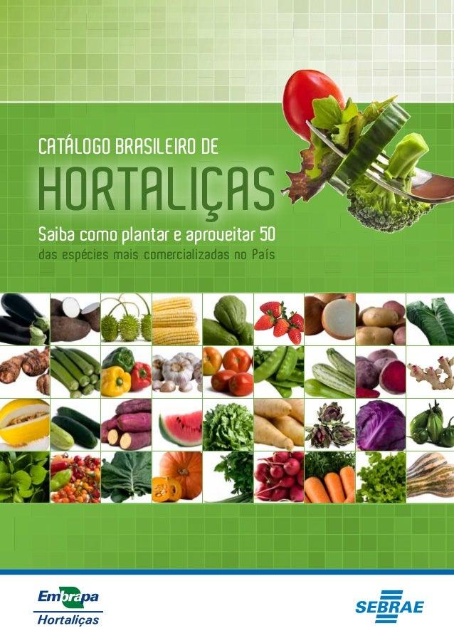 CATÁLOGO BRASILEIRO DE  HORTALIÇAS  Saiba como plantar e aproveitar 50  das espécies mais comercializadas no País