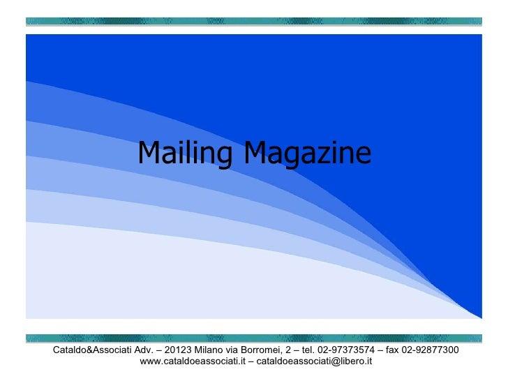 Mailing Magazine