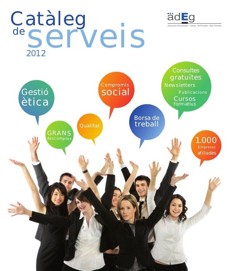 Catàlegde  serveis  2012                                                          Consultes                               ...