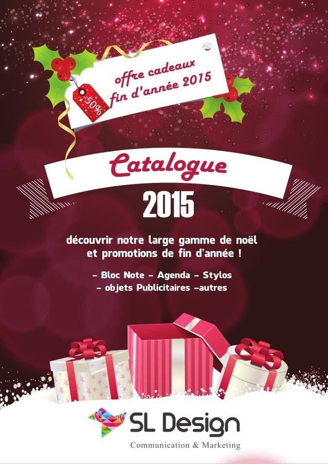 Catalgue fin d année sl design  2015