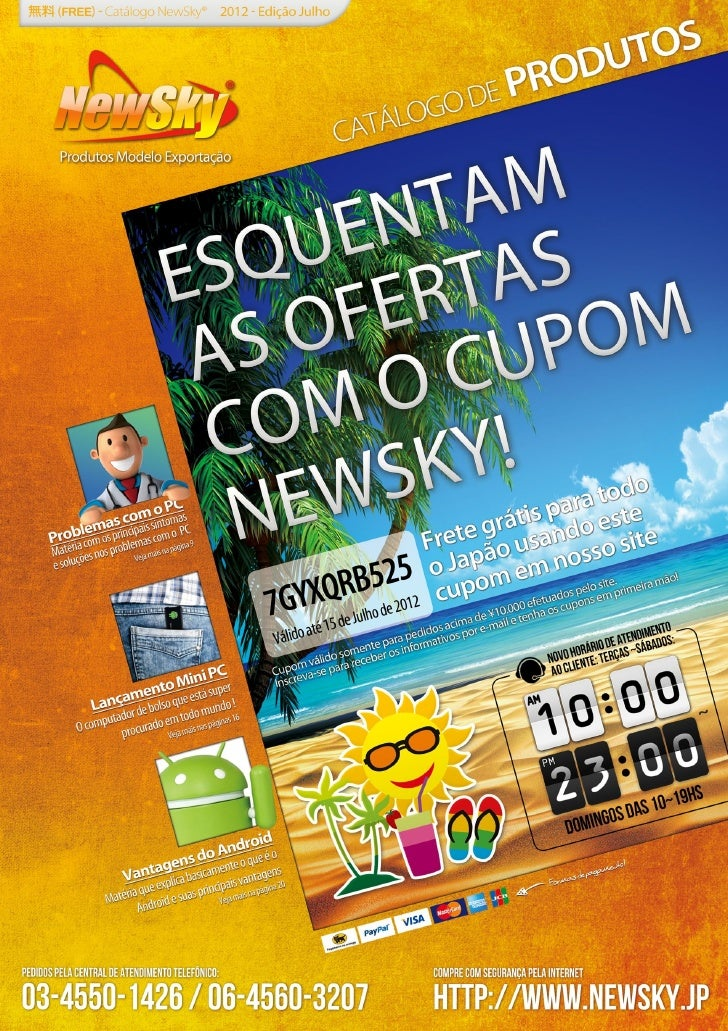 Catálogo de Produtos NewSky® - edição Julho