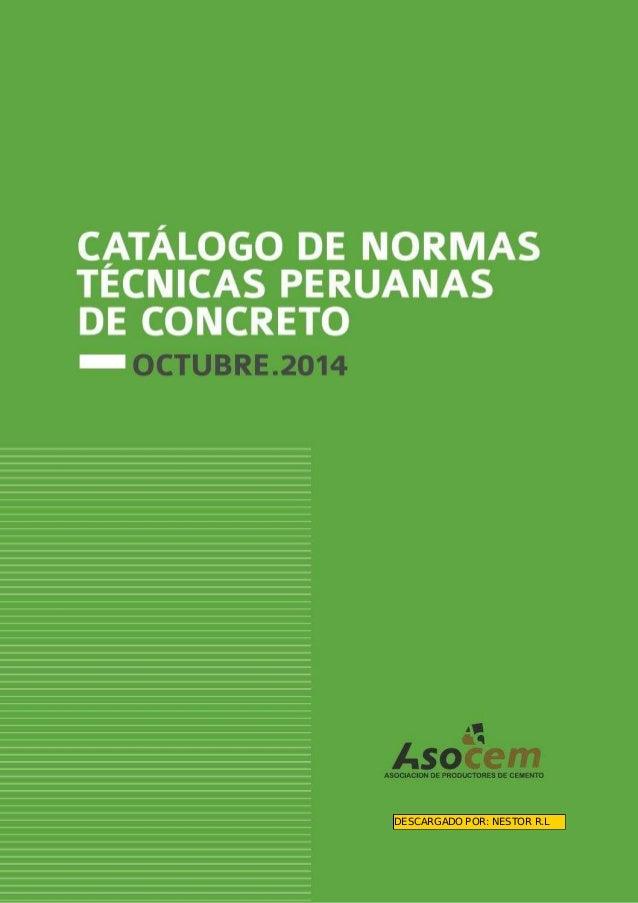 ASOCIACIION DE PRODUCTORES DE CEMENTO  DESCARGADO POR:  NESTOR R. L