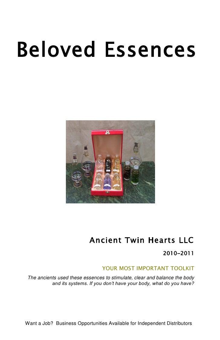Beloved Essences                            Ancient Twin Hearts LLC                                                       ...