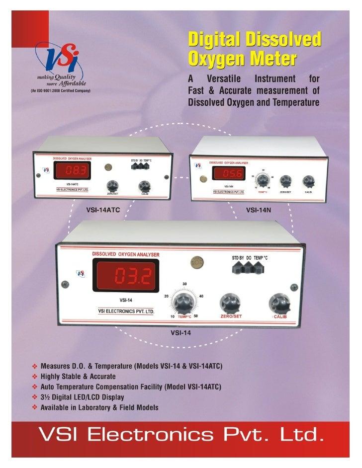 Catalog Digital Dissolved Oxygen Meters