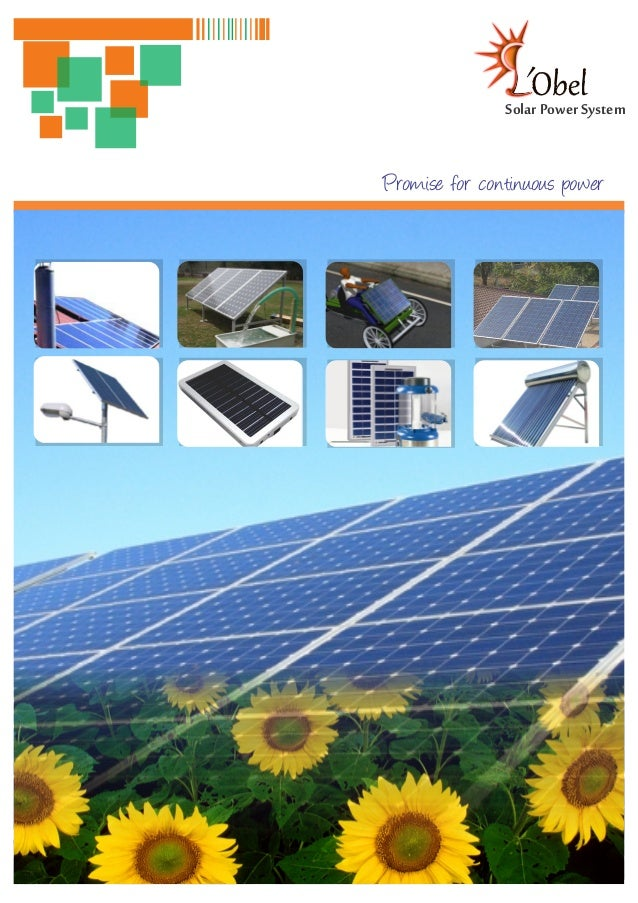 Solar Power SystemPromise for continuous power