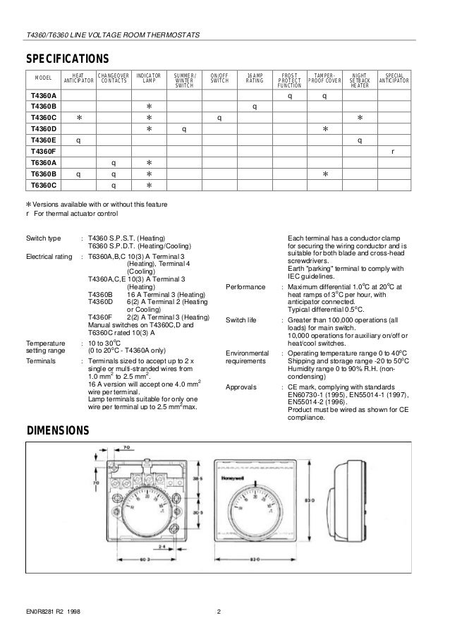 Wiring Diagram For Honeywell T6360 Thermostat : Honeywell t a wiring diagram images