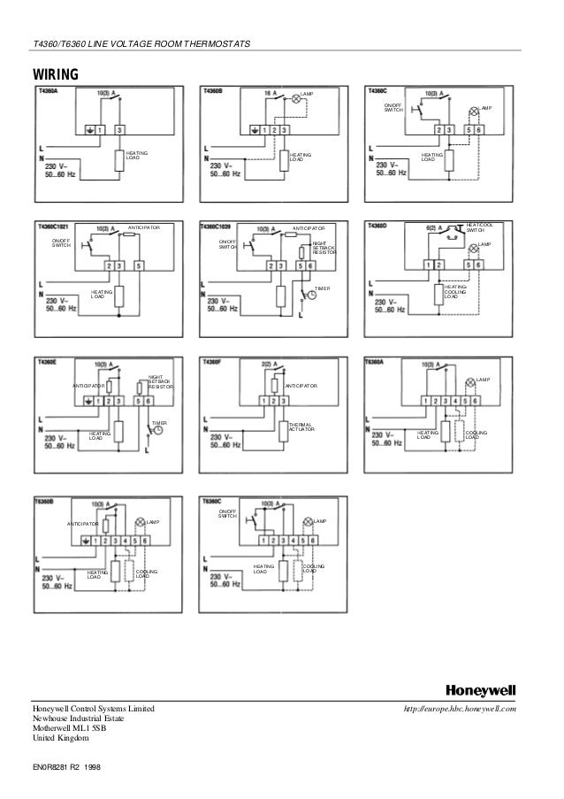 Wiring Diagram For Honeywell T40 Thermostat : Honeywell t a wiring diagram images