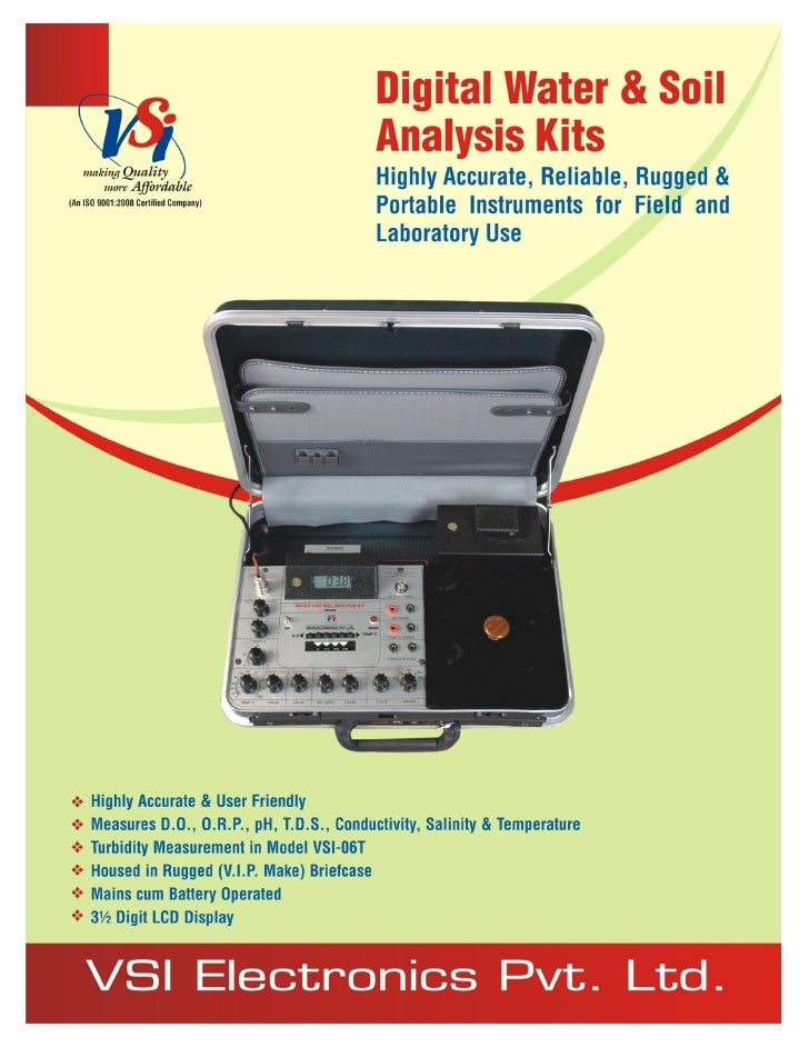Catalog vsi-06-07 series-digital water & soil analysis kits