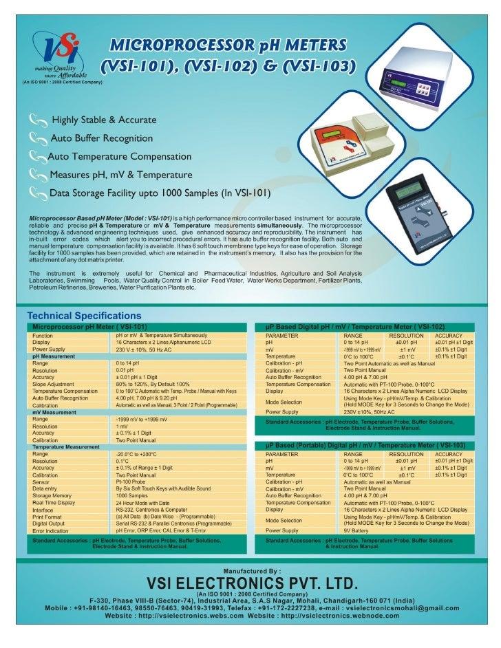 Catalog - Microprocessor pH Meters