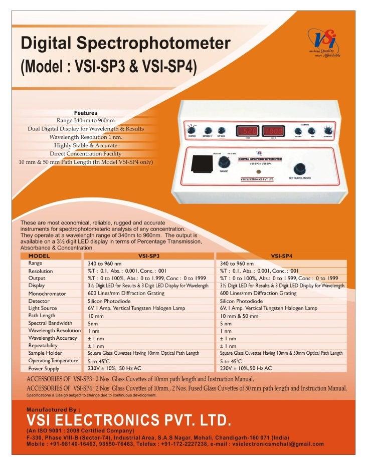Catalog vsi-sp3-sp4-digital spectrophotometers