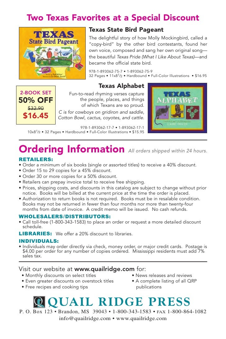 Quail Ridge Press Catalog 2008