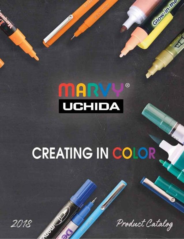 Marvy Uchida DecoColor Paint Markers Set 6 Pens Bold Tip Point Hot Colors 300-6C