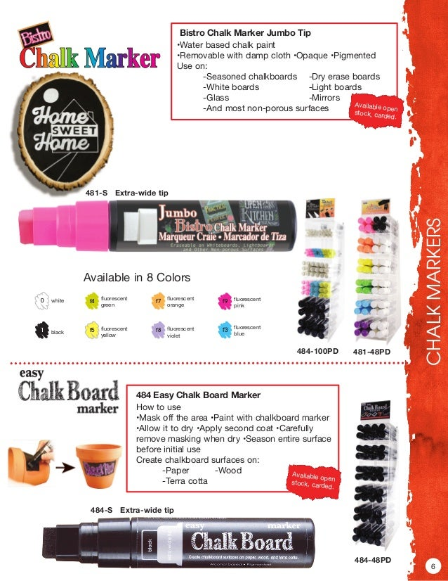 Bistro Chalk Marker Medium Point Pick /& Choose Water-Based Paint Markers