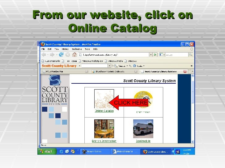 From our website, click on Online Catalog CLICK HERE