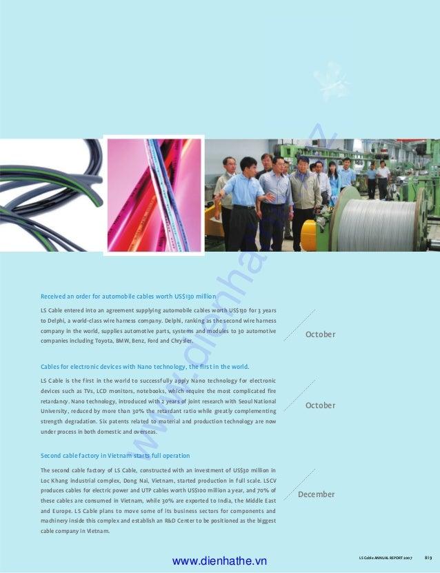 Catalog busbar ls 02. company annual report 2007