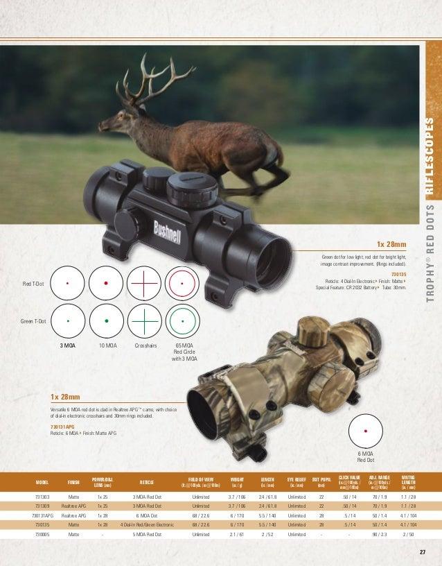 Bushnell Trophy Red Dot Trs 25 3 Moa Red Dot Reticle: Catalog BUSHNELL Rifle Scopes