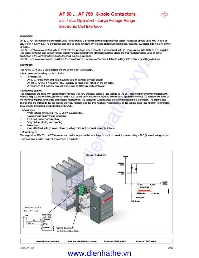 [DIAGRAM_38DE]  Catalog Contactor ABB - Khởi Động từ ABB | Abb 145 30 Contactor Wiring Diagram |  | SlideShare
