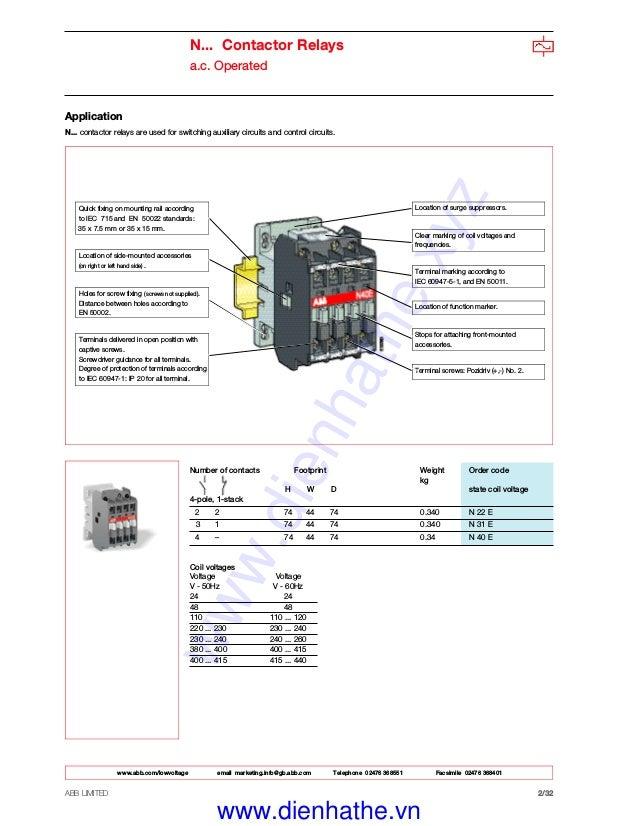 [SCHEMATICS_4FD]  Catalog Contactor ABB - Khởi Động từ ABB | Abb A5030 Contactor Wiring Diagrams |  | SlideShare