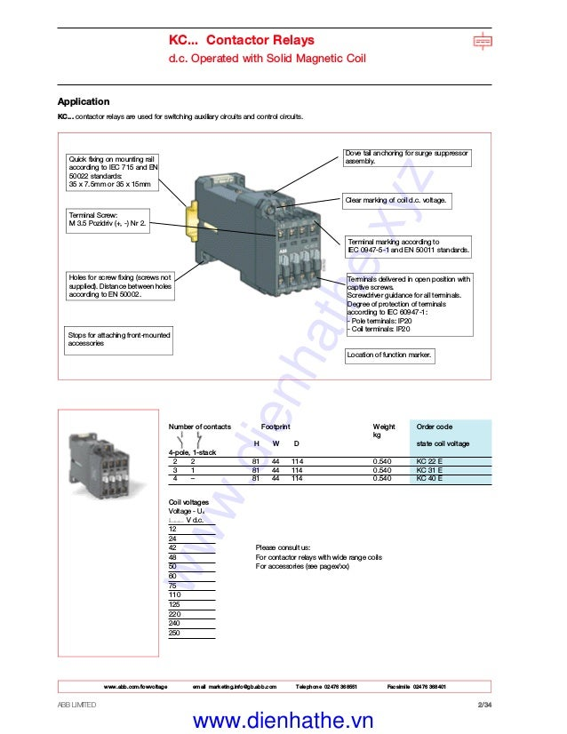 34: Abb A5030 Contactor Wiring Diagrams At Johnprice.co
