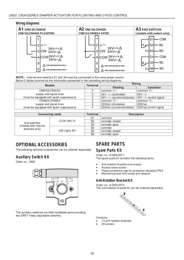 catalog actuator damper honey well beeteco com rh slideshare net belimo damper actuator wiring diagram damper actuator wiring diagram