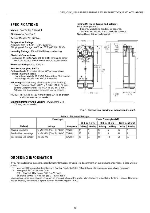 catalog actuator damper honey well beetecocom 19 638?cb=1450863282 catalog actuator damper honey well beeteco com honeywell actuator wiring diagrams at gsmx.co